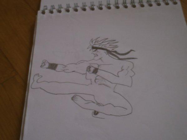mon dessin d'un combattant