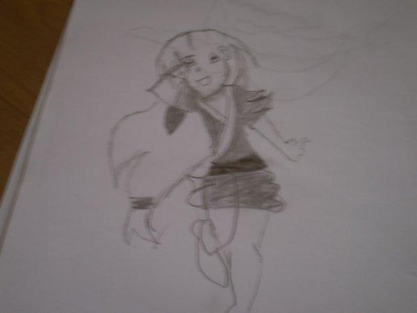 mon dessin d'une geisha