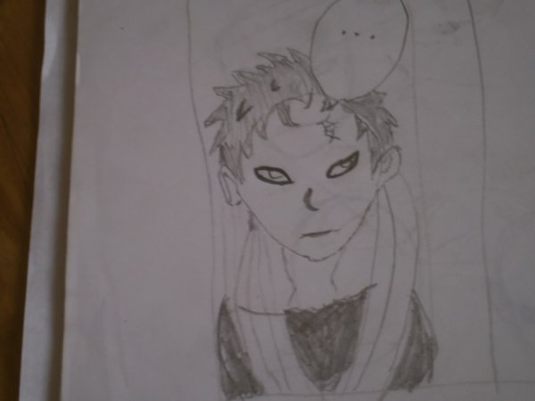 mon dessin de gaara