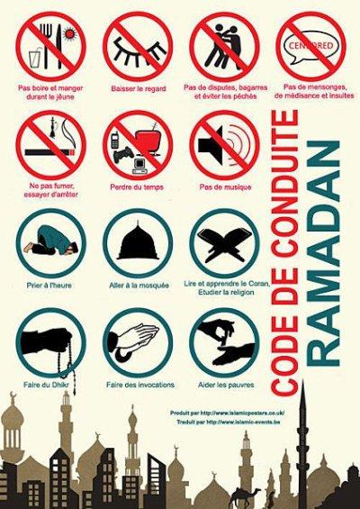 Ramadan les régles!