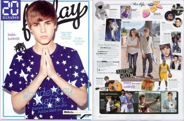 Justin fait la couverture de Friday Magazine d'Avril 2011, un magazine Suisse. Qu'en pensez-vous ?