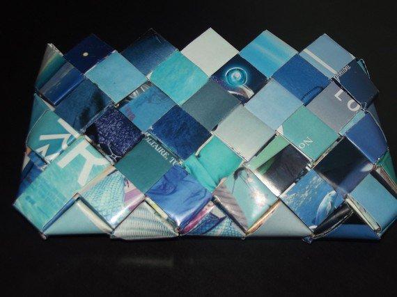 Pochette tons bleus