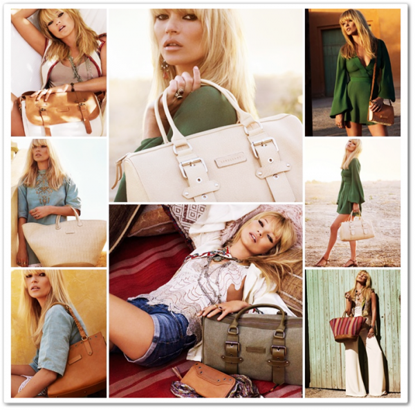 Campagne Kate Moss For Longchamp Eté 2011