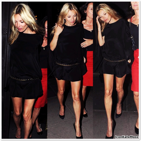 Robe noire kate moss