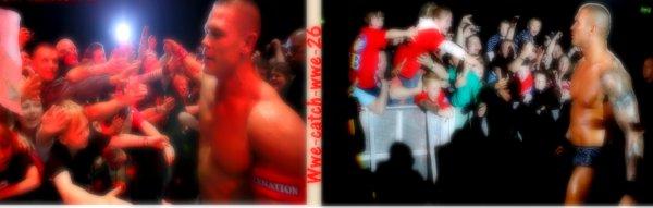 John cena & Randy Orton.