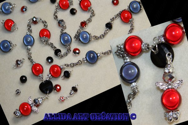 Collier Angel Noir-Rouge