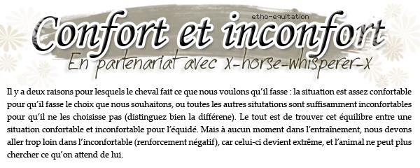 Confort et inconfort. ~