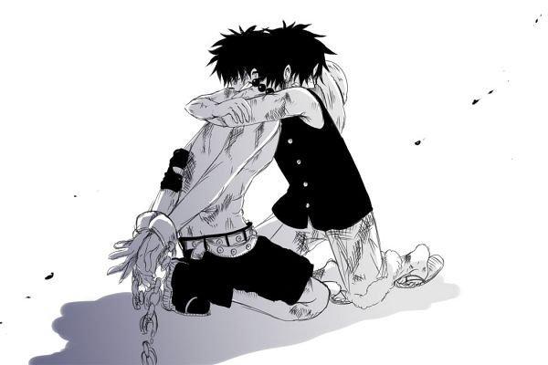 Ace et Luffy.