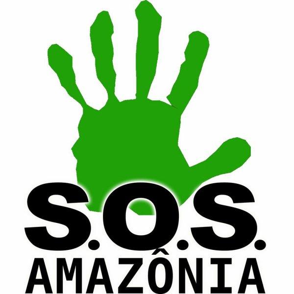 S.O.S. AMAZÔNIA / STOP BELO MONTE (fr): une main verte, une main rouge, ...