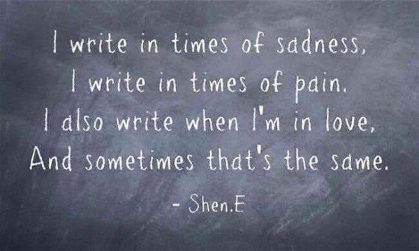 J'écris pour...