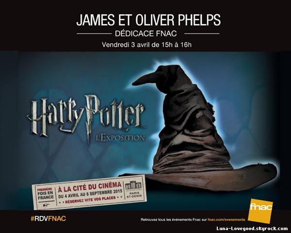 """ϟ  """"Harry Potter : l'exposition"""" arrive en France en Avant-Première le Vendredi 3 avril 2015 ϟ"""