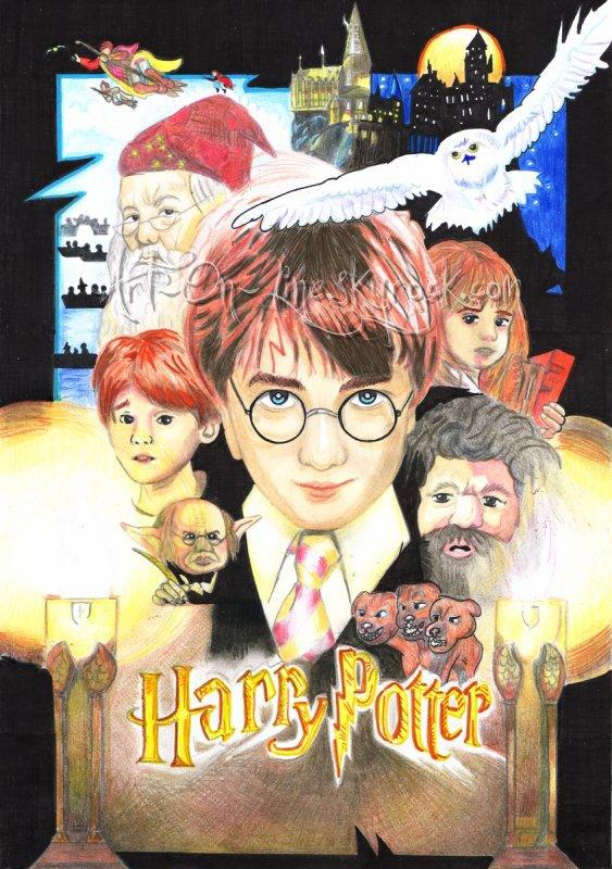 ϟ Dessin de Harry Potter fait par moi