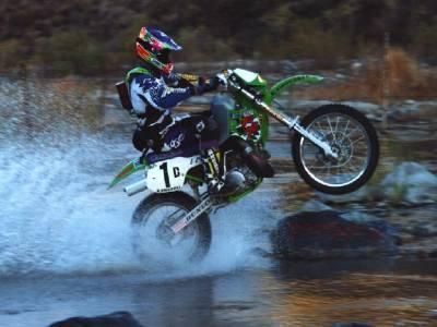 motocross roue arriere dans l 39 eau extreme sport 77. Black Bedroom Furniture Sets. Home Design Ideas