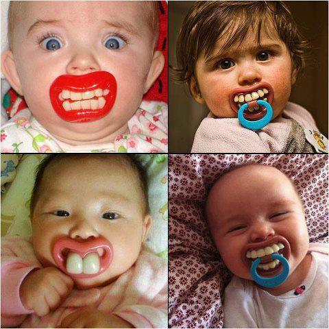 Tétines...originales..pour ne plus avoir de dents contres les BB qui pleurent!!!