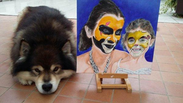 Les canibelles (face painting) (d'après une photo de Laura Buchman)