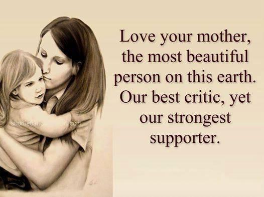 J'aime ma mère je donnerai ma vie pour elle et vous ??