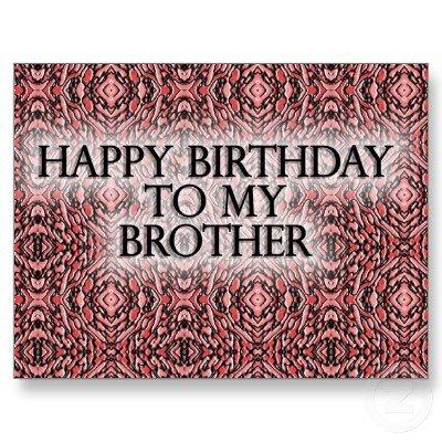 anniversaire de mon frère en anglais