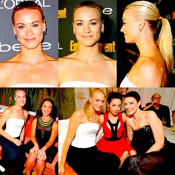 Le 20/09 : Yvonne Strahovski était à l'évènement EW Pre-Emmy Party, à West Hollywood