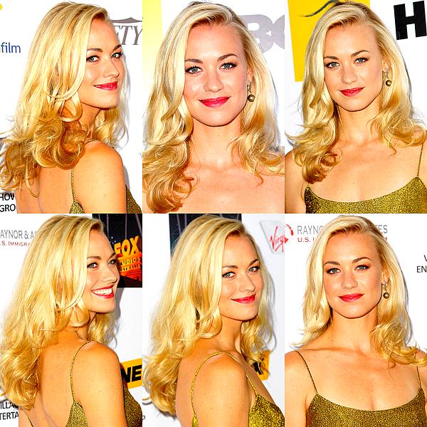 Le 24/10 : Yvonne était au gala annuel des « Australians in Film Awards », à Beverly Hills Je la trouve absolument superbe lors de cet évènement ! Sa robe lui va à merveille et elle est très belle avec les cheveux détachés. Un très joli TOP. ♥
