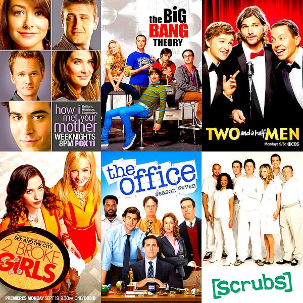 """SERIES   Une petite sélection de quelques sitcoms / séries comiques qui valent le détour Je dois reconnaître que j'ai longtemps été un peu réticente vis à vis des sitcoms, et même s'il ne s'agit pas forcément aujourd'hui de mon genre de séries préféré, il y en a certaines auxquelles j'ai vraiment bien accroché et qui, dans un tout autre style, valent autant à mes yeux que certaines """"vraies"""" séries."""
