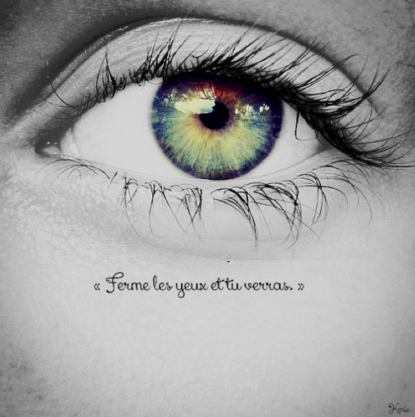 « En amour les yeux sont notre guide. » Properce