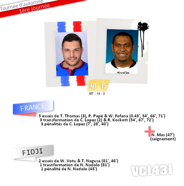     1er test-match d'Automne 2014 > FRANCE / FIDJI