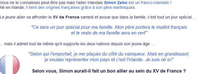 ||| SIMON ZEBO : Un Français en Irlande ...