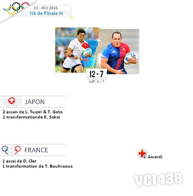 ||| RIO 2016  > 1/4 de Finale JAPON / FRANCE