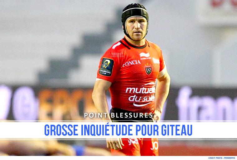 ||| POINT BLESSURES > Double blessure pour M. Giteau !