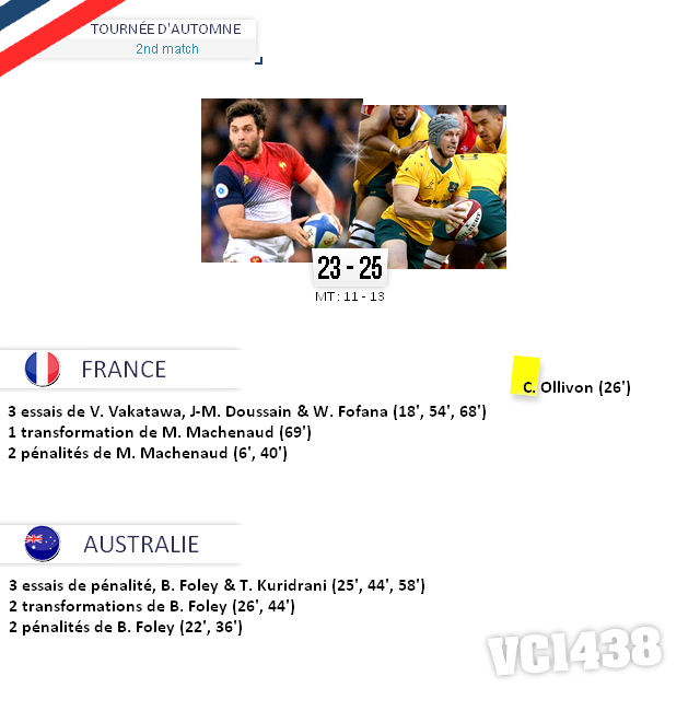 ||| TOURNÉE D'AUTOMNE > France / Australie