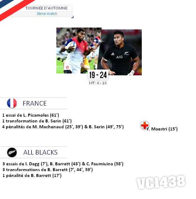 ||| TOURNÉE D'AUTOMNE > France / All Black