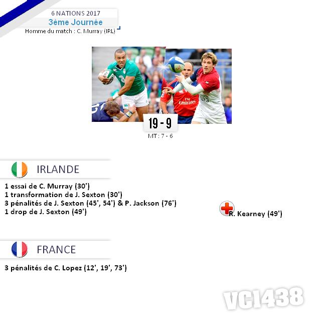 ||| 6 NATIONS 2017 > Irlande - France