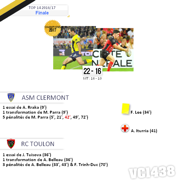 ||| FINALE de TOP 14 2016/17 > Clermont / Toulon