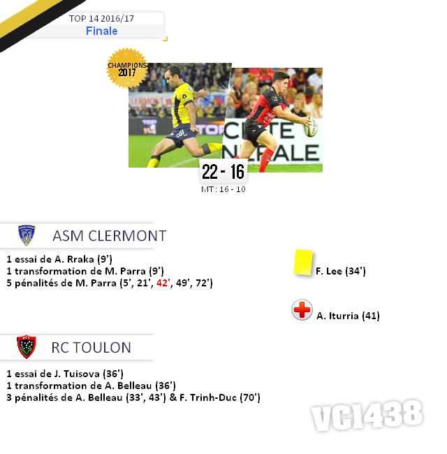 ||| FINALE de TOP 14 2016/17 > Clermont / Toulon