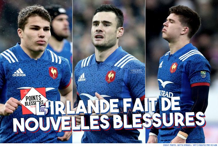 ||| 6 NATIONS > Le point sur les nouvelles blessures avec France/Irlande...