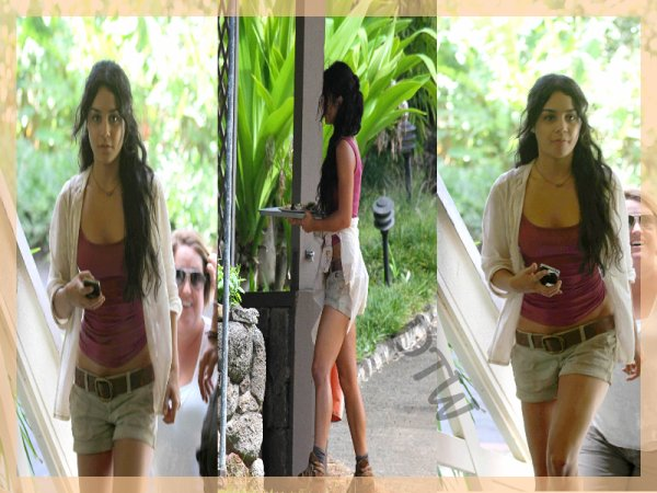 Vanessa Hudgens sur le tournage de Mysterious Island[30.10.2010].Elle semble fatigué la Nessa' J'adhère trop sa tenue...
