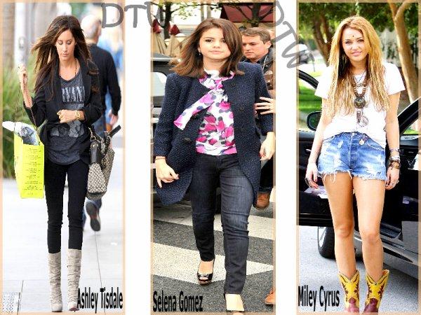 Top de la semaine [30.10.2010].Ash' , Sel' et Mil' , quelle tenue preferes-tu ?' Moi j'aime les trois , mais surtout celle de Sel'.
