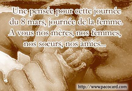 PAGE SPÉCIALE SUR LA JOURNÉE MONDIALE DE LA FEMME, UNE SEMAINE POUR LA FEMME ET TOUJOURS POUR CELLE QUE J'AIME