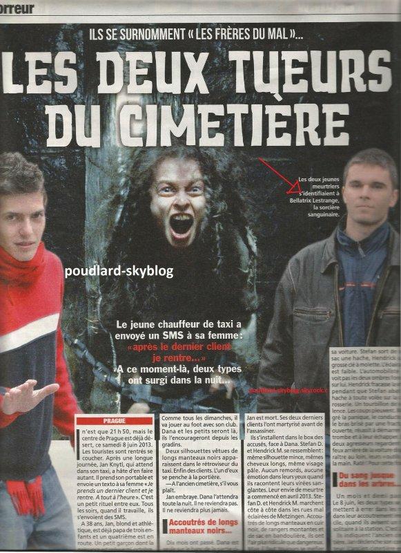 Des ados se prenais pour Bellatrix ...