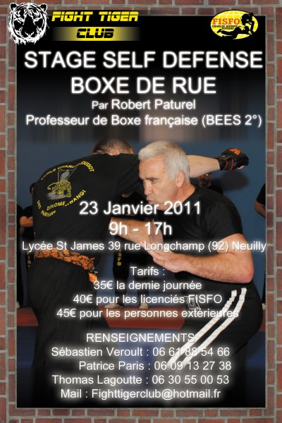 STAGE BOXE DE RUE ANIME PAR ROBERT PATUREL