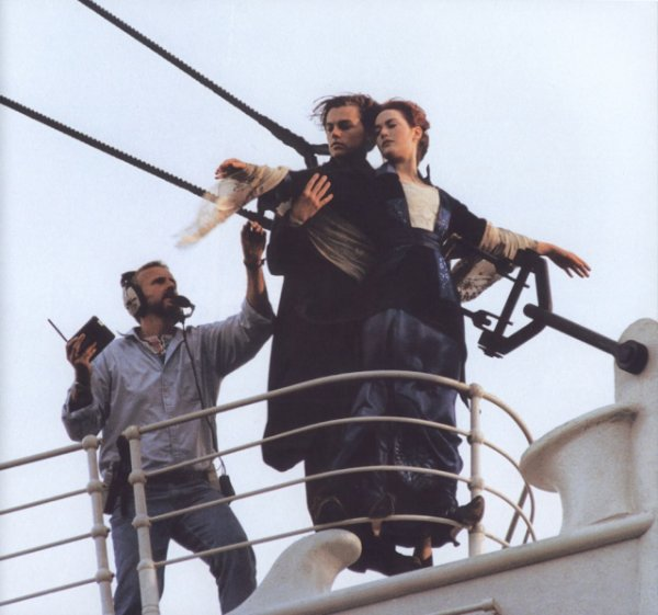 Pictures filming film Titanic