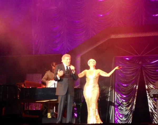 Lady Gaga et Tony Benett à la Grand Place de Bruxelles