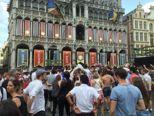 Warm up Tomorrowland 2016 Grand Place Bruxelles