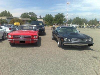 Mustang 65 et Camaro 74