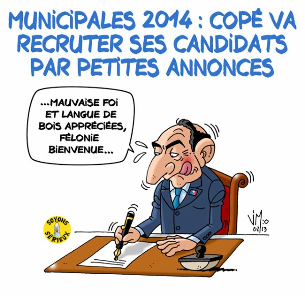Municipales 2014 : Copé va recruter par petites annonces !...