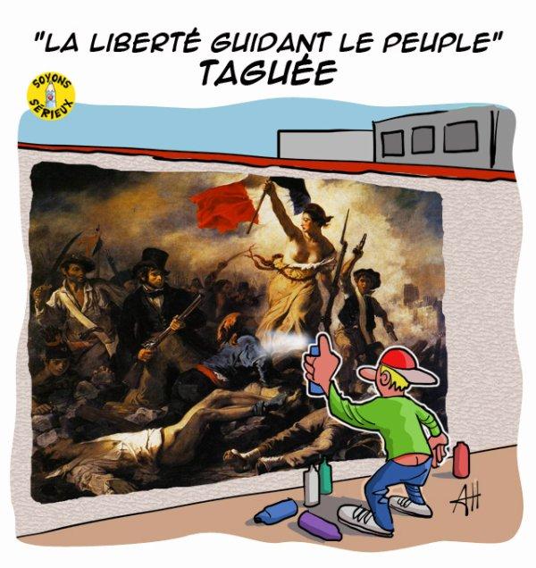 Louvre-Lens : « La liberté guidant le peuple » vandalisée !...