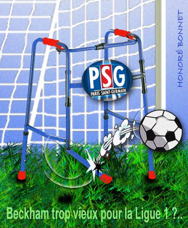 PSG, DAVID BECKHAL PAS CONTENT !...