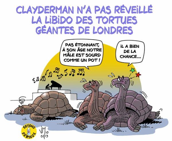 Les tortues géantes de Londres insensibles à la musique de Clayderman !...