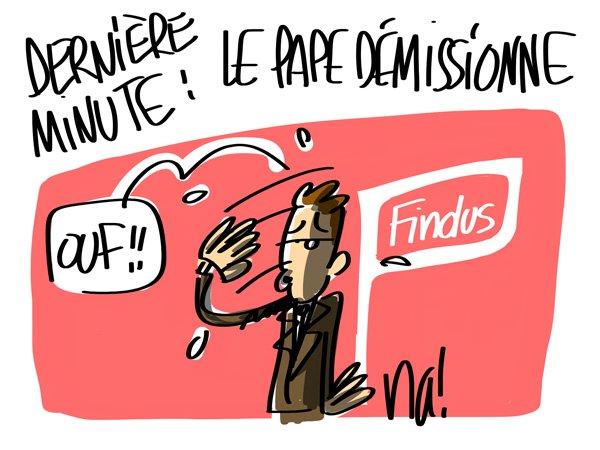 """Spécial """"LE PAPE BENOÎT XVI SOUPAPES DÉMISSIONNE"""" - Image n° 2/8 !..."""