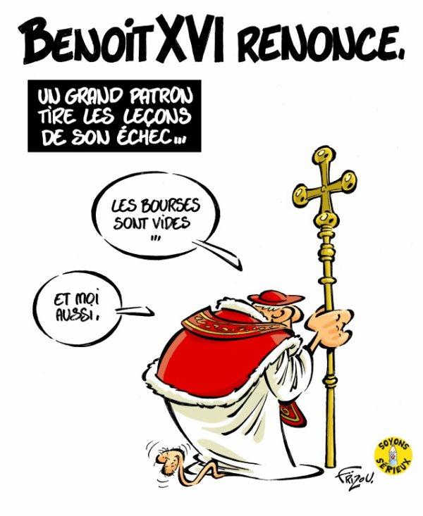"""Spécial """"LE PAPE BENOÎT XVI SOUPAPES DÉMISSIONNE"""" - Image n° 5/5 !..."""